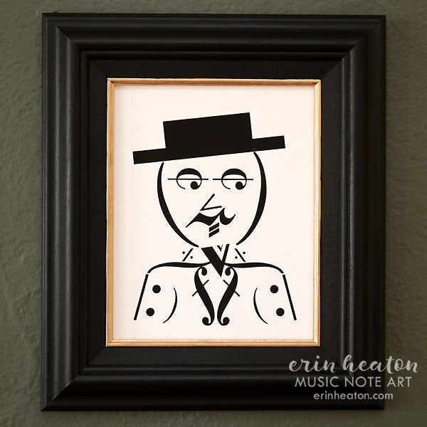 Dapper Man Music Note Art Print | erinheaton.com