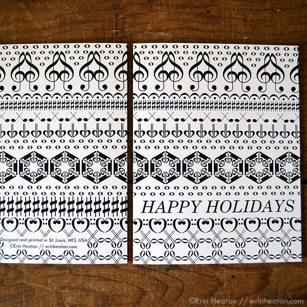 Happy Holidays Music Note Card