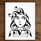 Indie Series: Music Note Art Prints – Set of 4
