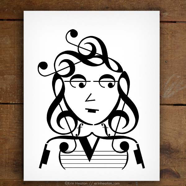Indie Series: It Girl Music Note Art Print