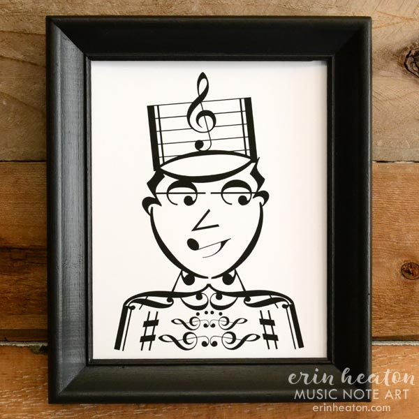 Drum Major - Marching Band Music Art Print | erinheaton.com