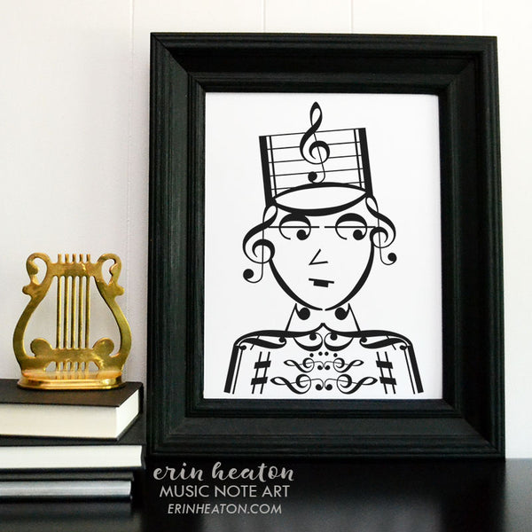 Drum Major / Marching Band Girl Music Art Print | erinheaton.com