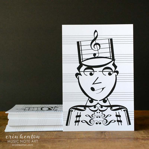 Music Note Marching Band Postcards | erinheaton.com