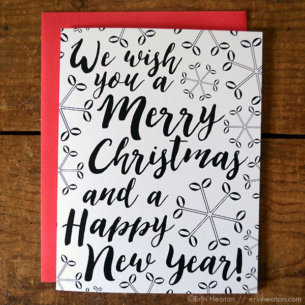 'We Wish You A Merry Christmas...' Music Holiday Card