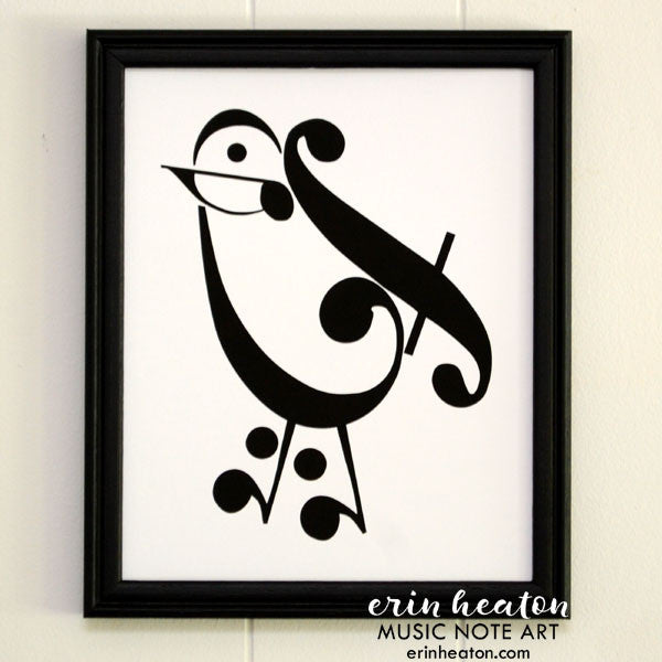 Bird Music Art Print