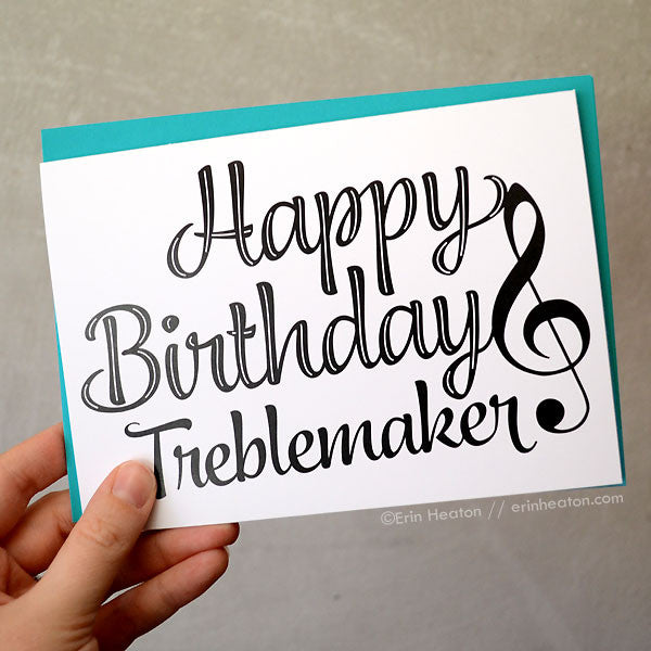Music birthday cards music christmas cards music thank you happy birthday treblemaker card bookmarktalkfo Images
