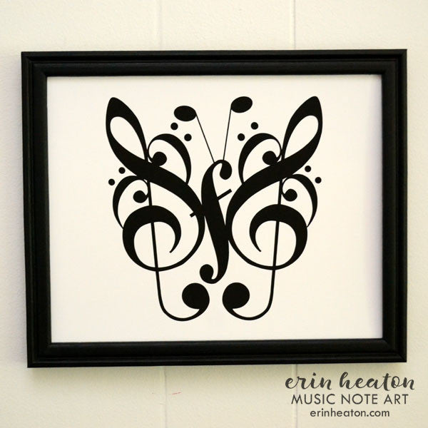 Butterfly Music Art Print