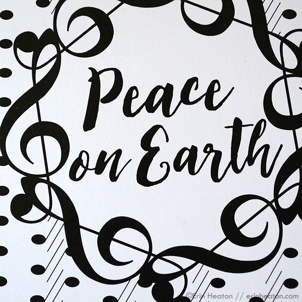 Peace on Earth Treble Clef Holiday Card
