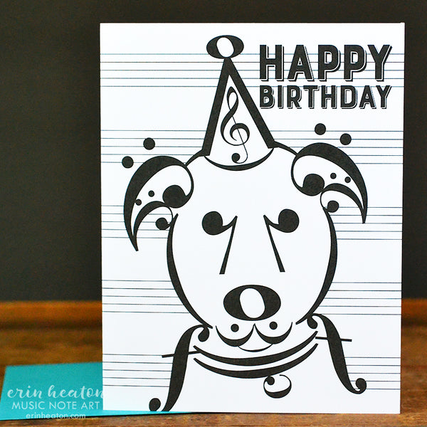 Uke Dog Music Birthday Card | erinheaton.com
