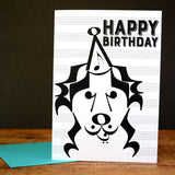 Banjo Dog Birthday Card