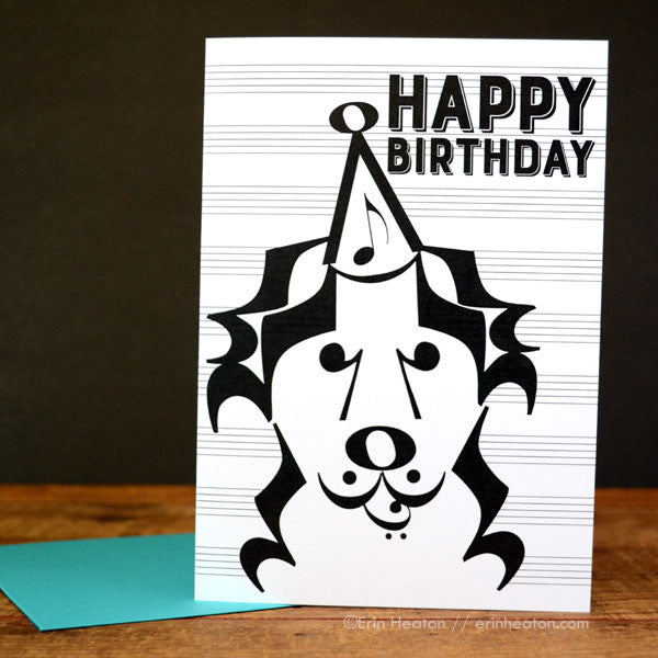 Banjo Dog Music Birthday Card | erinheaton.com
