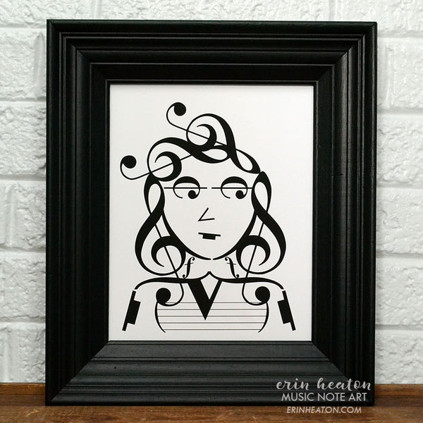Indie Series: It Girl/Indie Kid Music Note Art Print Set | erinheaton.com