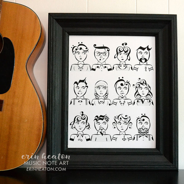 Music Faces Art Print | erinheaton.com