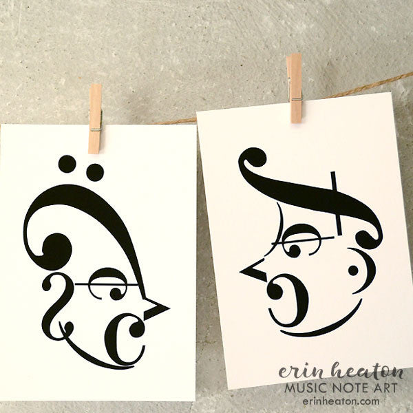 0d996d93ac6 Music Note Art by Erin Heaton - Perfect music room decor! – Erin ...