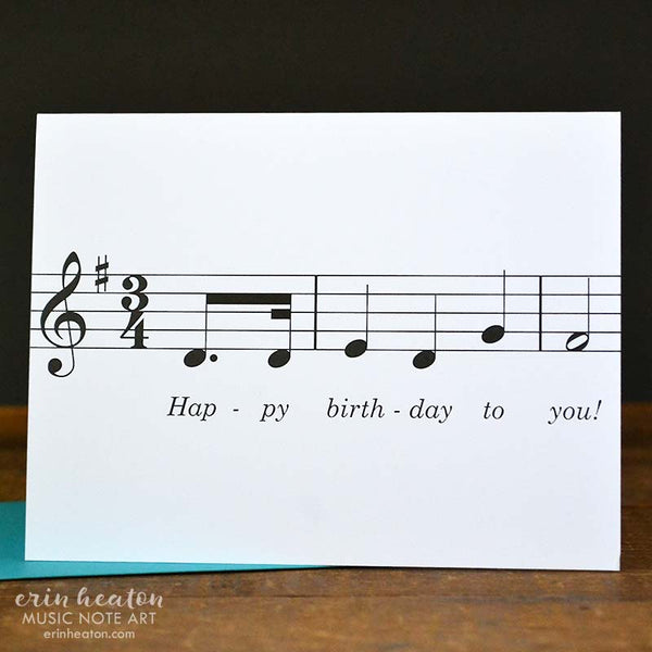 Happy Birthday Song Music Note Card | erinheaton.com