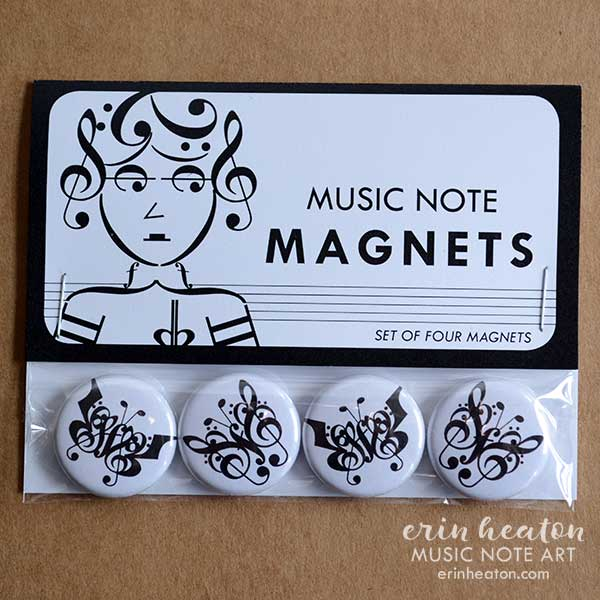Butterfly Music Note Magnets | erinheaton.com