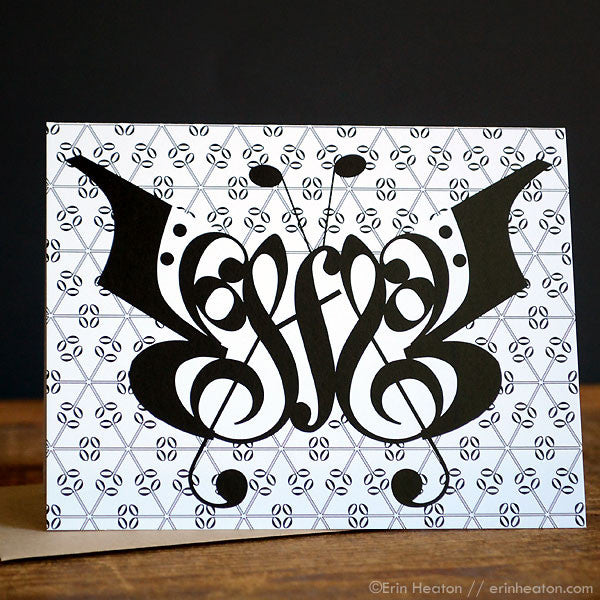 Butterfly Music Note Cards – Set of 8