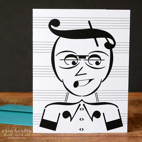 Music Nerd Music Note Greeting Card | erinheaton.com