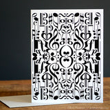 Reflection Music Note Greeting Card