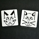Music Note Cat Magnets