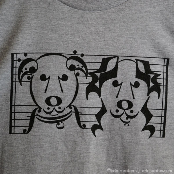 Music Note Dogs T-Shirt