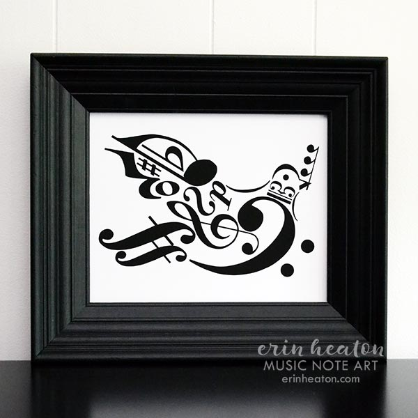 Peace Dove Music Note Art Print | erinheaton.com