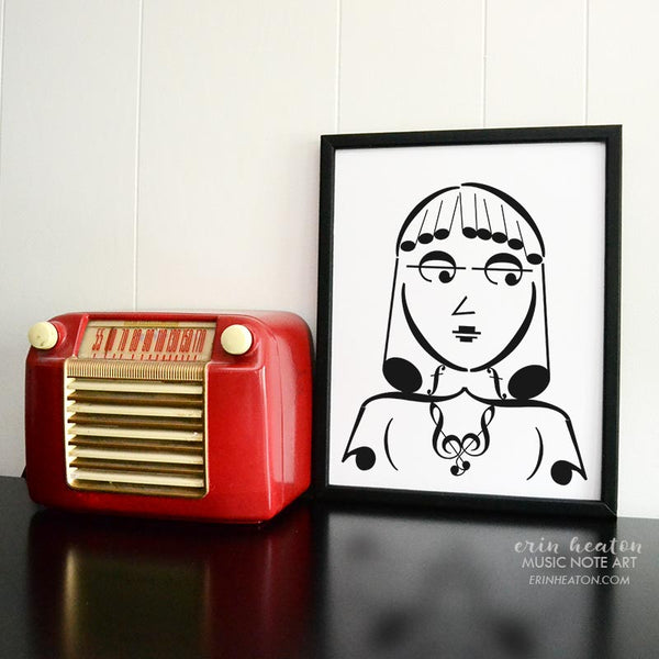 Girl Band Series: Tempo Music Note Art Print | erinheaton.com