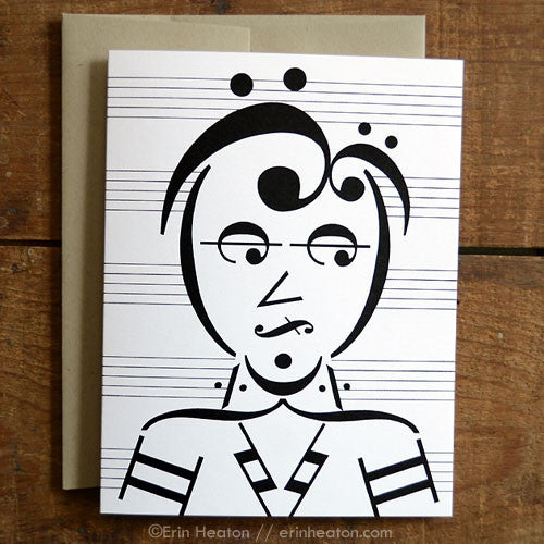 Lead Singer: Rocker Music Note Greeting Card | erinheaton.com