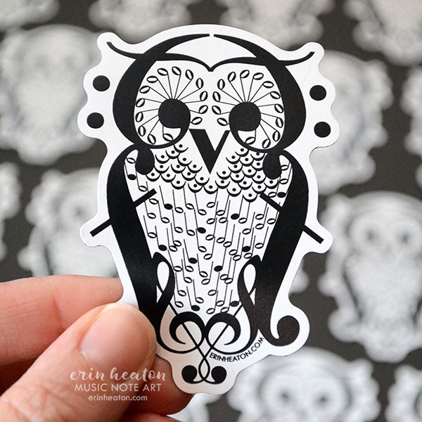Music Note Owl Magnets - Classroom Pack | erinheaton.com