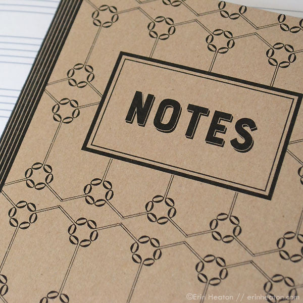 Set of 2 Music note notebooks – NOTES – staff paper or blank