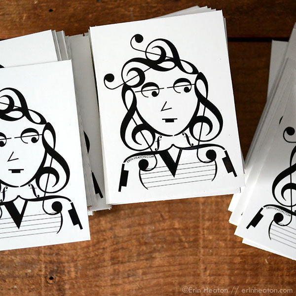 "Music Note ""It Girl"" Vinyl Stickers - Music Student Classroom Pack"