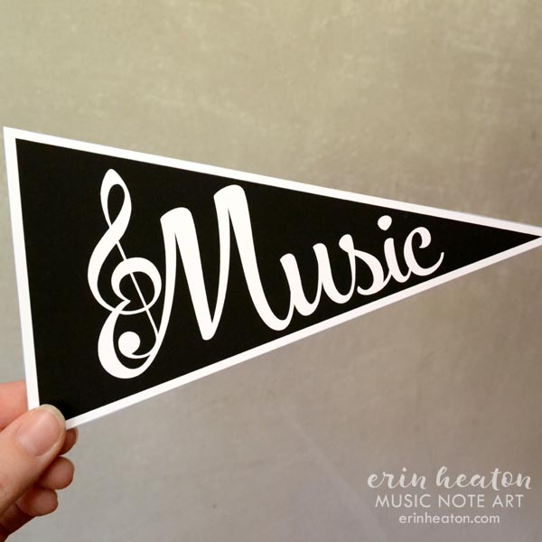 Music/Bravo Pennant Flag Printable