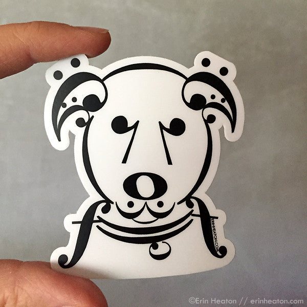 Music Note Dog Sticker