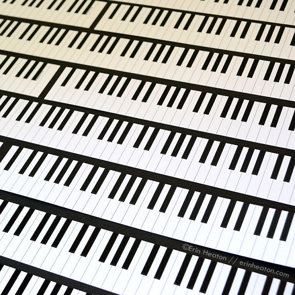 Piano Bookmarks