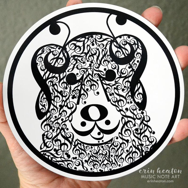 Large Treble Clef Dog Magnet | erinheaton.com