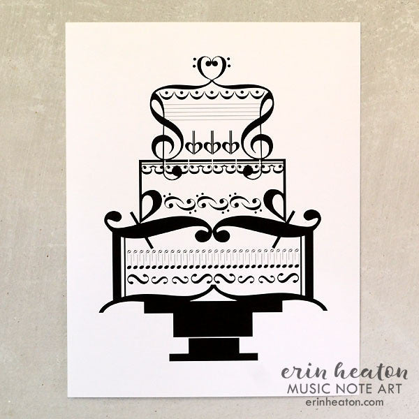 Wedding Cake Music Art Print | erinheaton.com