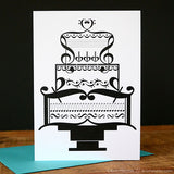 Music Wedding Cake Card