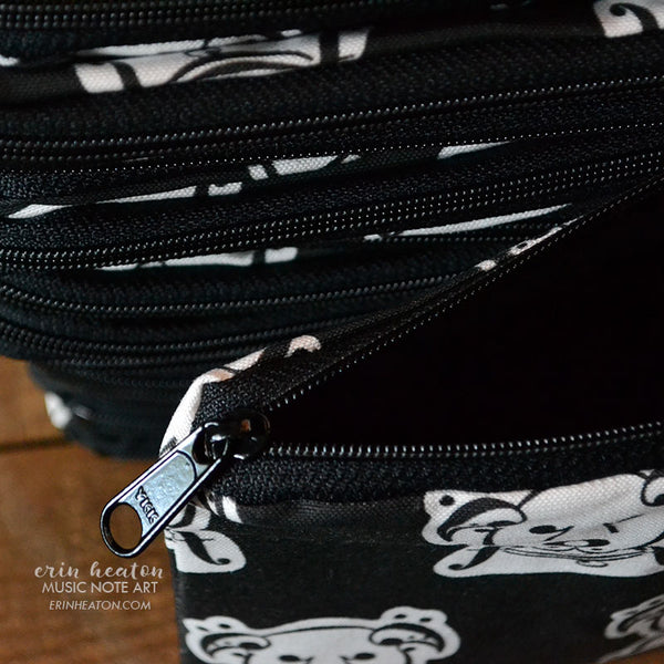 Music Note Dog Zippered Pouch | erinheaton.com