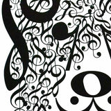 "Dog Series: ""Opus"" Music Note Art Print 