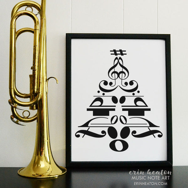 Christmas Tree Music Note Art Print | erinheaton.com