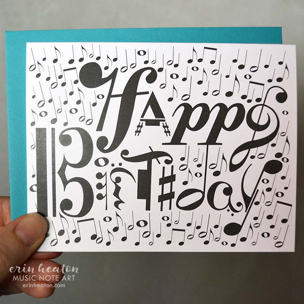 Happy Birthday Musical Notation Card