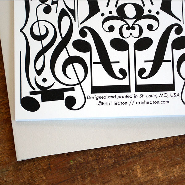 Reflection Musical Notation Greeting Card