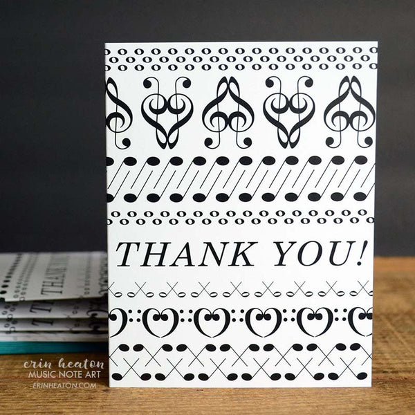 Thank You Music Note Cards | erinheaton.com