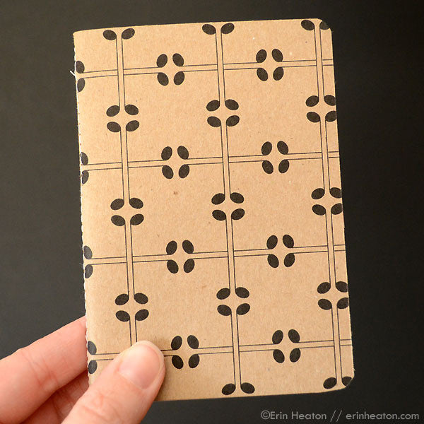 Music note mini notebook – Square Pattern