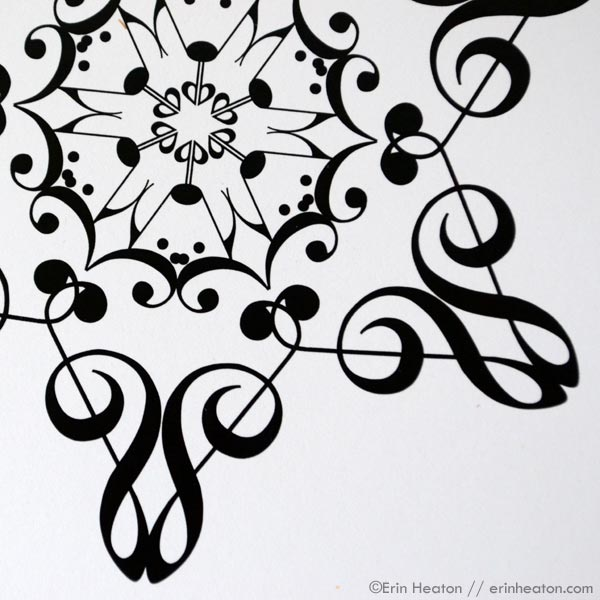 Snowflake Music Note Christmas Card