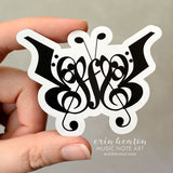 Music Note Butterfly Magnet
