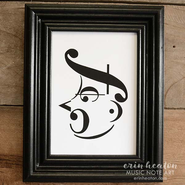 Shouting Man Music Note Art Print | erinheaton.com