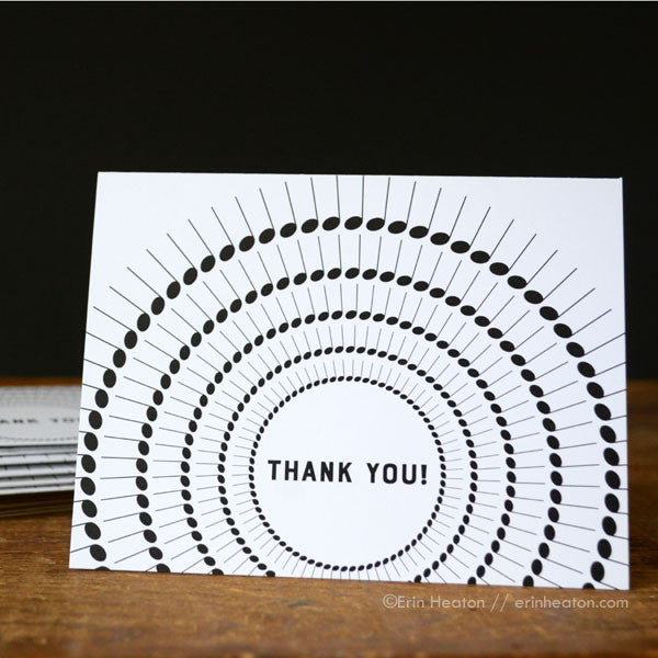 Music Note Thank You Card | erinheaton.com