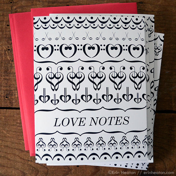 Love Notes Music Valentine or Anniversary Card