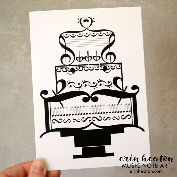 Music birthday cards music christmas cards music thank you music wedding cake card bookmarktalkfo Images